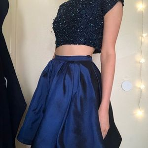 SHERRI HILL RHINESTONE HOMECOMING DRESS